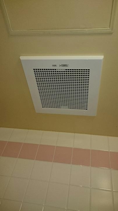 浴室換気扇の取替工事