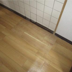 床下配管漏水補修作業後