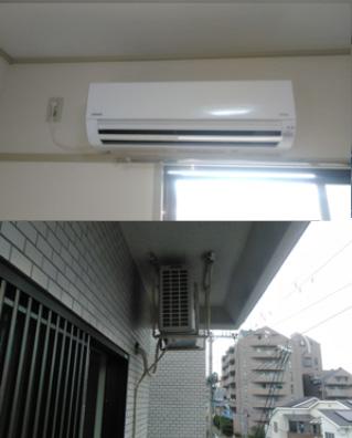 室外機天吊り型エアコン取替工事