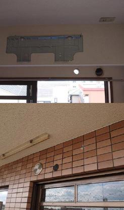 エアコン配管用穴抜き工事