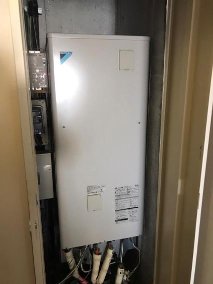 エコキュート温水器取り替え工事