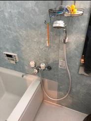浴室水栓取替作業