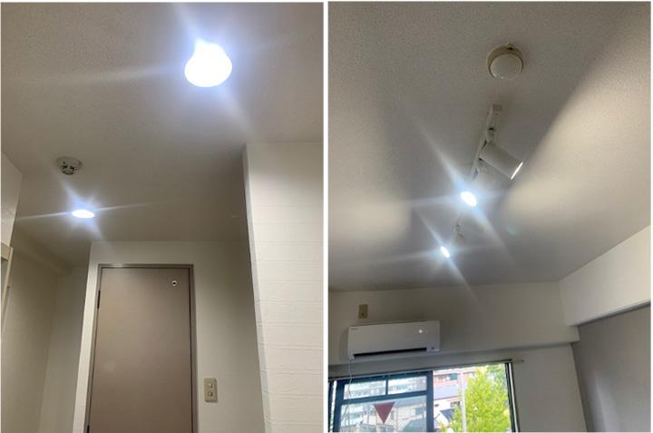天井照明取替工事