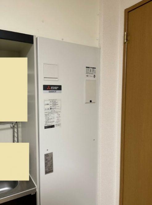 電気温水器取替工事 三菱 SRT-2014-BLから三菱 SRG-201Gへ取り替え