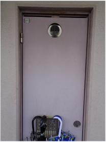 給湯器設置場所のパイプスペース